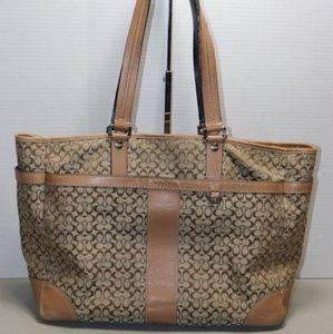 Coach Brown Monogram Diaper Bag